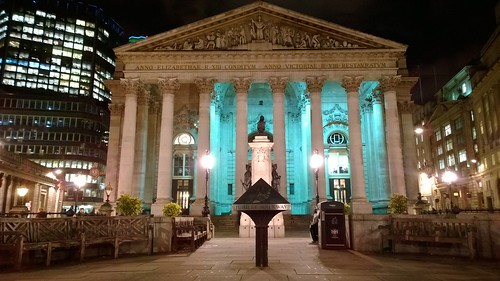 The Royal Exchange Building near the Bank of England in the City of London - it's a posh shopping mall in the city. | by terencechisholm