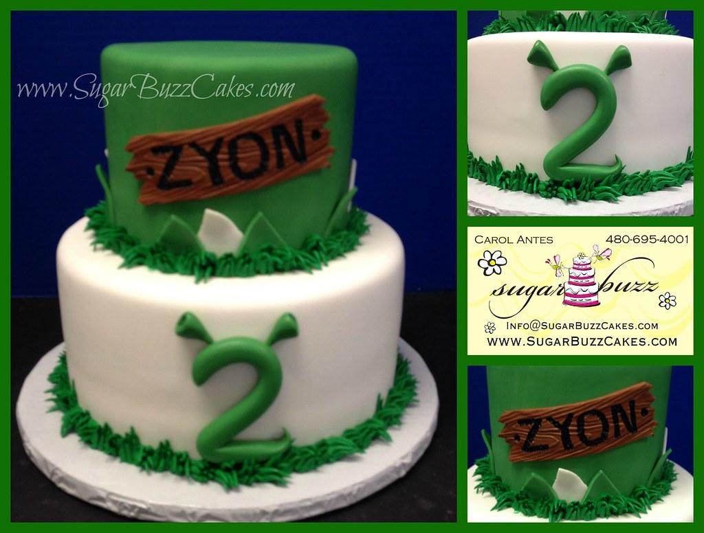 Fine Shrek Birthday Cake Carol Flickr Funny Birthday Cards Online Elaedamsfinfo