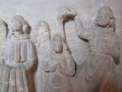 Seven Sacrament font (detail): Baptism of Christ
