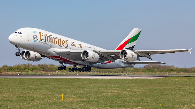 A6-EEZ - Emirates Airbus A380-800 (EGCC-OMDB)