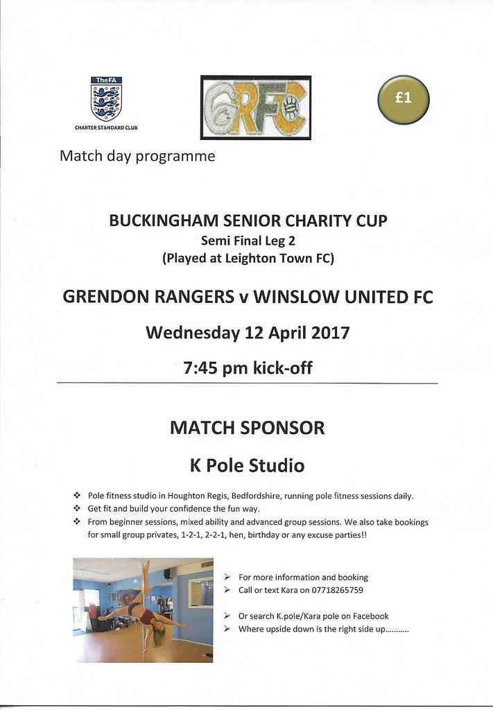 Grendon Rangers v Winslow Utd 12.04.2017