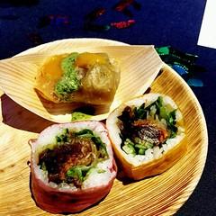 two's company: samosa-sushi #perfectcombo
