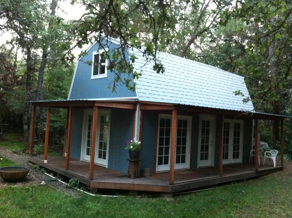 Premier Tall Barn | Wrap Around Custom Porch | TUFF SHED