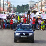 Saint-Laurent du Maroni - Le collectif étudiant et l'intersyndicale, dans les rues, en soutien aux grévistes d u PUG - 7/11/2013