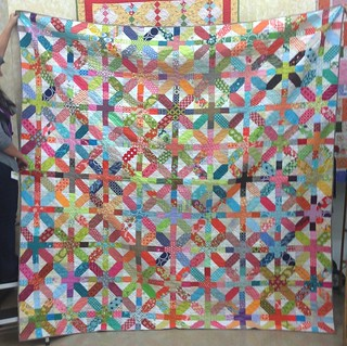 King sized x & +  quilt