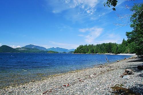 Tzartus, Hosie and Santa Maria Islands in Trevor Channel, Barkley Sound, Vancouver Island, British Columbia