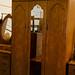 Tall oak stained 3 door wardrobe E220