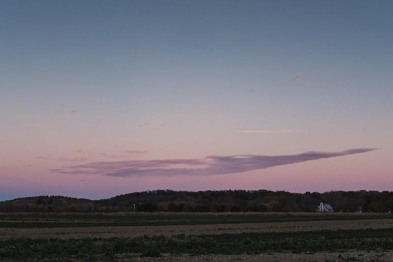 A field after sunset