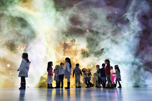 Kids at Deep Space 8K | by Ars Electronica
