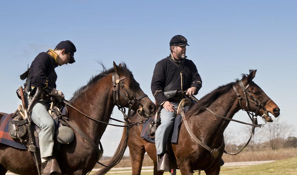 Fort Monroe Civil War encampment Virginia Hampton US cavalry union horses