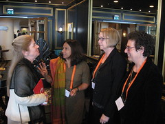 Stephanie Ortoleva, Geetanjali Misra, Therese Sands and Myra Kovary at the ICPD Human Rights Conference