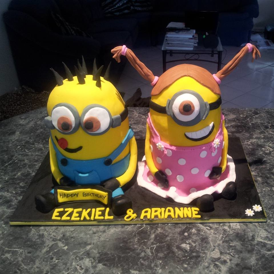 Miraculous Minions Birthday Cake Helen Flickr Funny Birthday Cards Online Barepcheapnameinfo