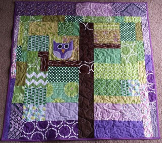 """Hoot"" baby quilt 