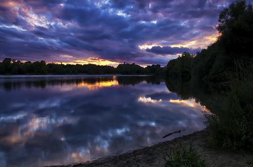 sunset lake storm sunshine clouds somerfordkeynes neighbridge pentaxk5