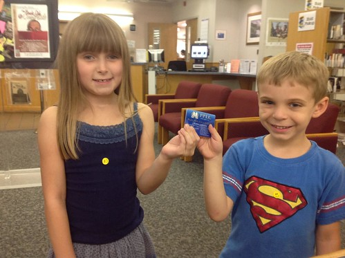 My first library card, 2013