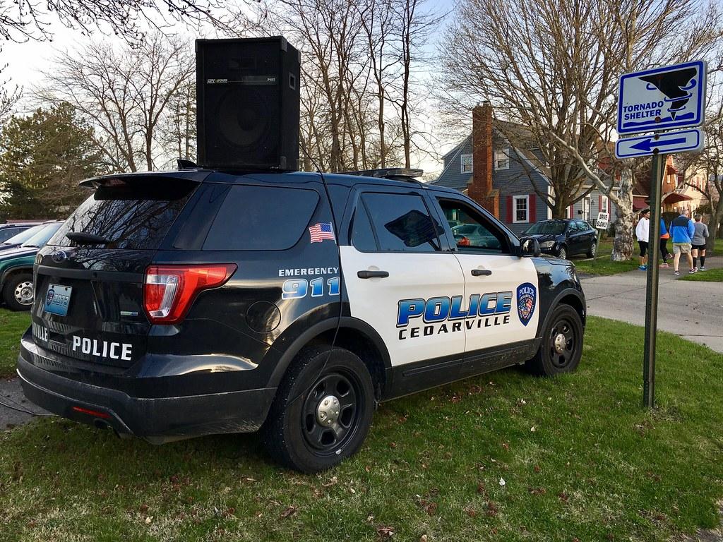Cedarville Police vehicle  In Xenia, Ohio for the Xenia Ma