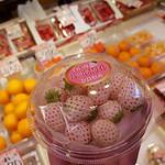 白い苺 パールホワイト pearl white strawberries @ 牧果実店 maki kajitsuten