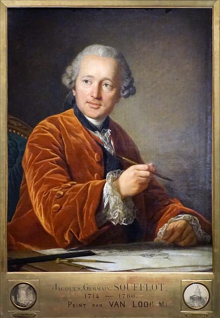 J.-G. Soufflot de L.-M. Van Loo (Cité de l'architecture et du patrimoine, Paris)