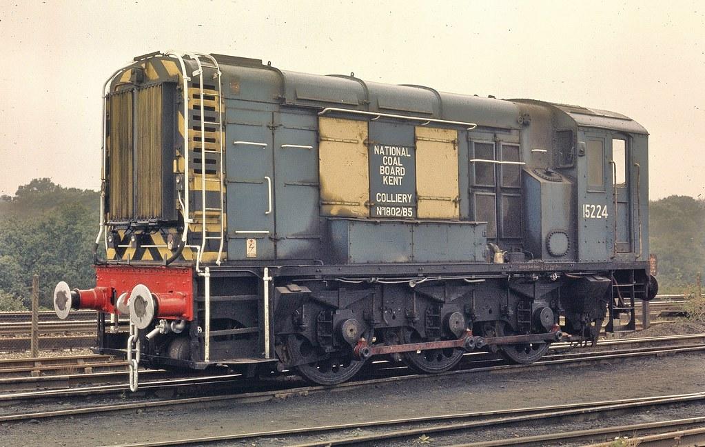 Ex BR Bulleid 15224 at Snowdown Colliery Kent.