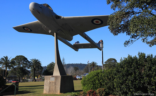de Havilland DH.100 Vampire Jet in Central Park Across the Road From Wingham RSL, Wingham, NSW