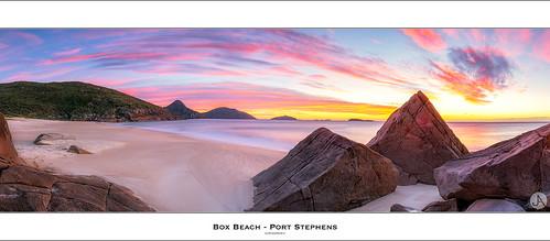 panorama seascape beach sunrise focus pano australia panoramic nsw nelsonbay portstephens leefilters boxbeach johnarmytage canon5dmark111 sigma35mmf14dg