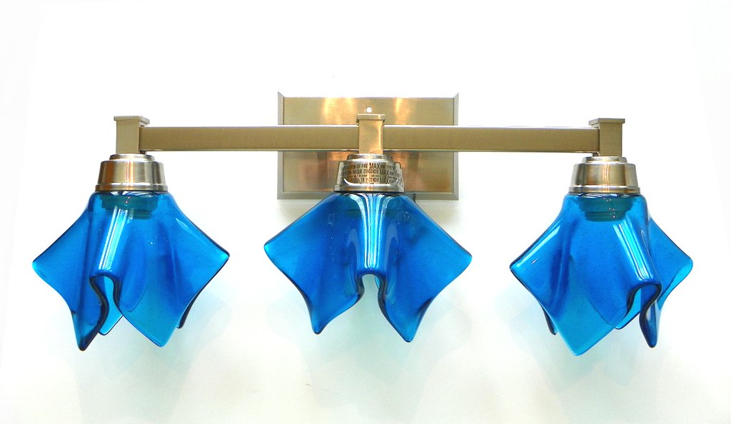 Turquoise Bathroom Vanity Light By Uneek Glass Fusions
