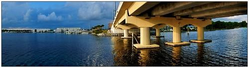 bridge panorama florida pano panoramic pointandshoot panamacitybeach autofocus waterscenes autoexposure corelpaintshoppro grandlagoon baycountyflorida thomasstreetbridge nikonaw110