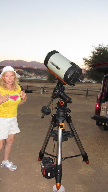 IMG_4085 Angela new Celestron 11 Edge HD telescope