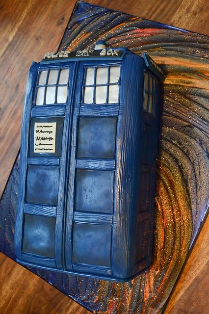 TARDIS Grooms Cake