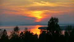 Vacker solnedgång över Siljan