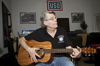 Stephen King visits USO Warrior Center | by The USO