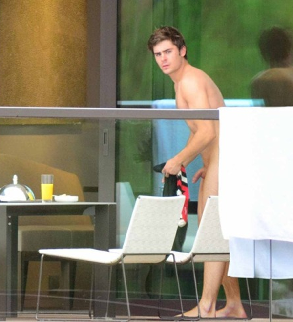 A picture of zac efron naked