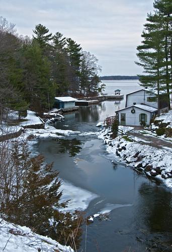 winter snow ontario mill ice creek 1000islands stlawrenceriver mallorytown