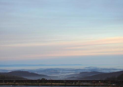 sunrise fog clouds shenandoah valley overlook afton