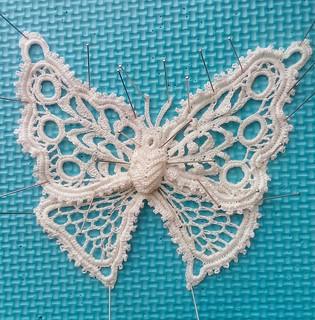 Irish crochet butterfly