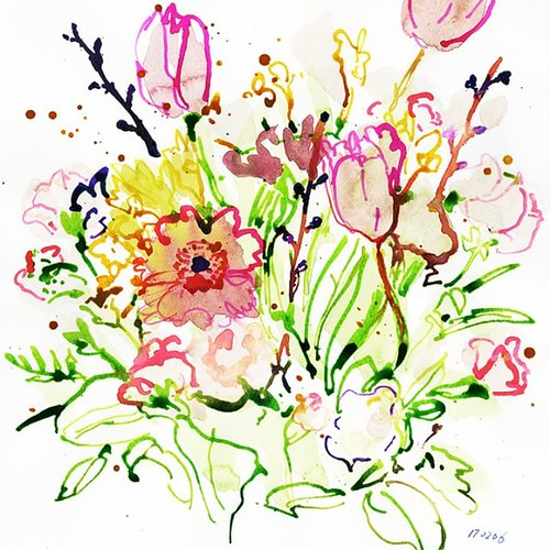 Drawing no.170306-02 #flower #watercolor #illustration #illustrator #drawing #fashion #fashionillustrationsketch #fashionillustrations #fashionillustrator #Japan #tokyoillustrator #beautyillustration #sketch #art #スケッチ #illustrationartists #komachiyama | by loopool
