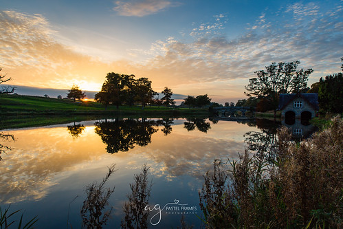 sunset ireland lake reflections trees travel travelphotography sky clouds canon5dmark3 kildare landscape landscapephotography cartonhouse maynooth canon 2470mm nature sightseeing beauty boat house grass sun autumn