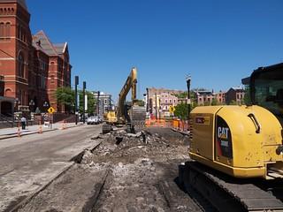 Streetcar Construction on Elm | by Travis Estell
