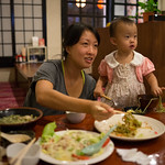 """2013-10-13 18.38.00.jpg Startled by Luc screaming """"Sumimasen"""" at the waitress..."""