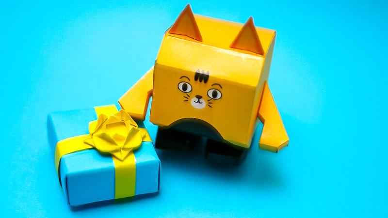 โมเดลกระดาษแมวบ้อง 001