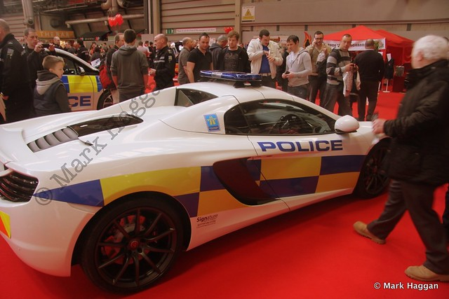 A McLaren police car at Autosport International Show 2014