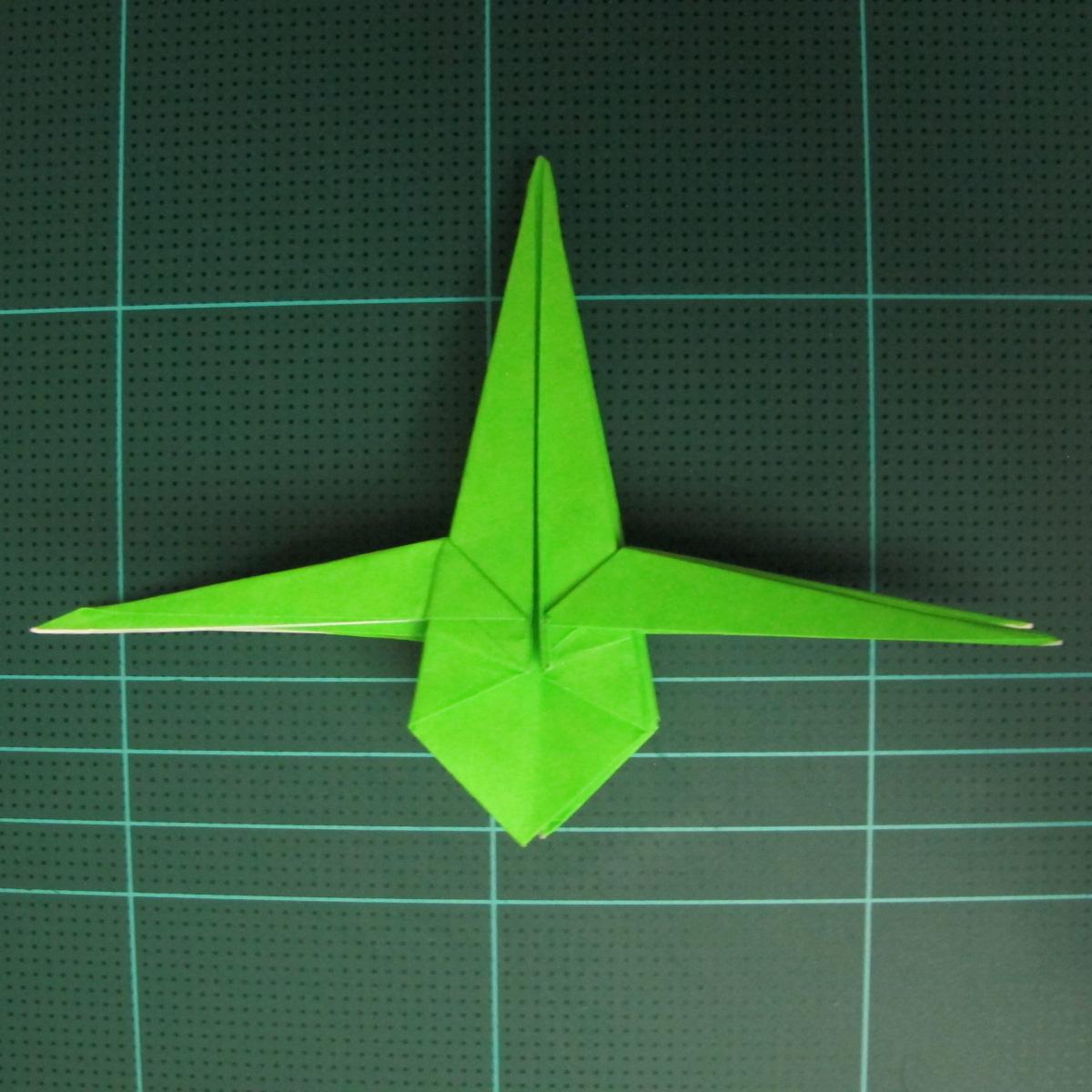 วิธีพับกระดาษเป็นจรวด X-WING สตาร์วอร์ (Origami X-WING) 029
