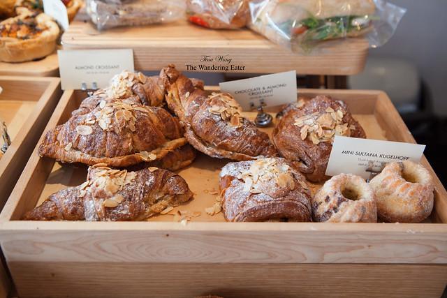 Breakfast croissants and kugelhopf