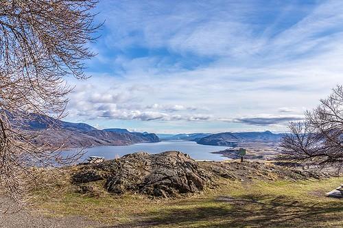 Kamloops Lake in the Thompson Okanagan region of British Columbia, Canada