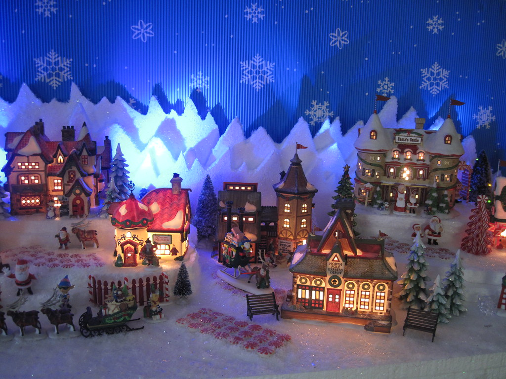 Christmas Village Display.Dept 56 North Pole Christmas Village Display Halloween