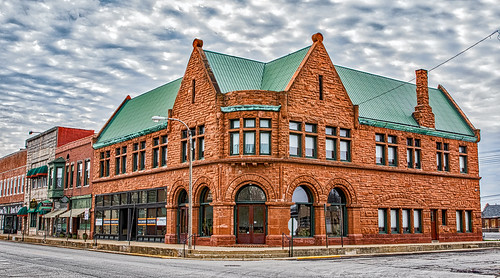 Scully Building, Lincoln, Illinois | by myoldpostcards