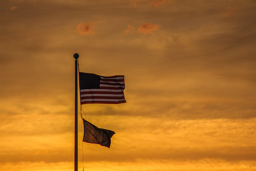 americanflag america starsandstripes godblesstheusa sunset charlestownindiana charlestown indiana southernindiana indianaflag sun clouds orange