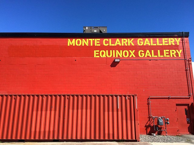 Monte Clarke & Equinox Galleries #karenhansenphotography #art #eastvan