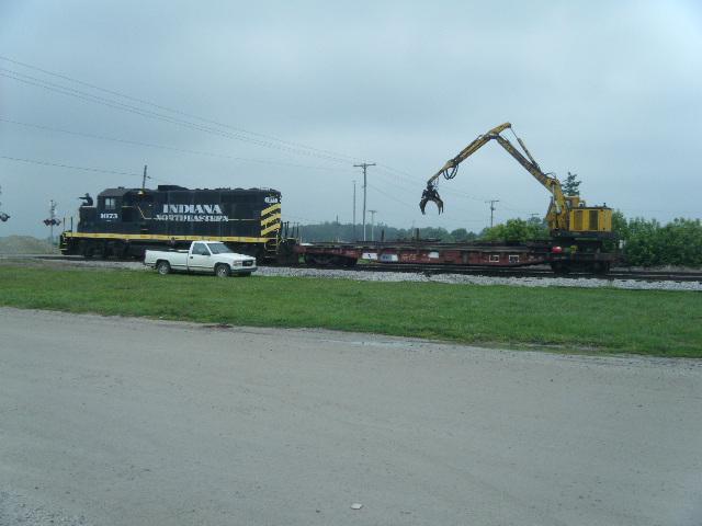 INER work train at Ashley Indiana