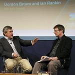 Gordon Brown chats to Ian Rankin |